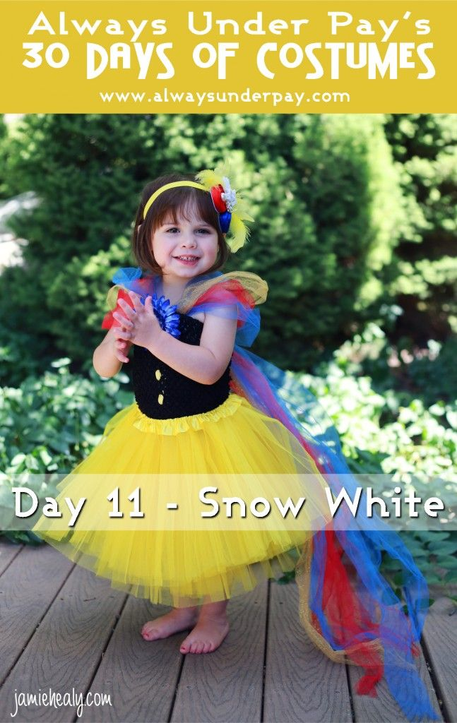 Day 11 – Snow White DIY Halloween Costume Tutorial + {GIVEAWAY!} | Always Under Pay's 30 Days of Costumes