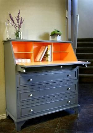 Best Upcycled Bureau Drinks Cabinet Furniture Makeover 400 x 300