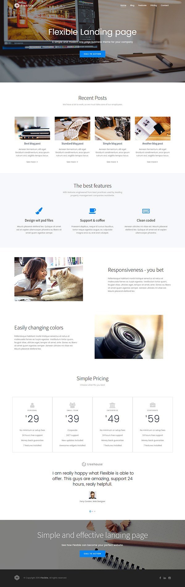 Flexible – Free Bootstrap Theme: http://graphicburger.com/preview ...