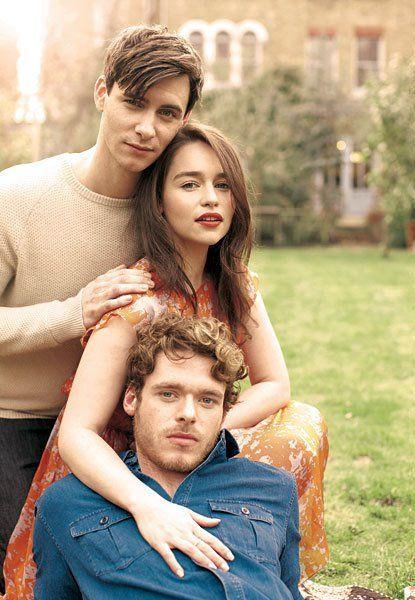 Harry Lloyd (Viserys Targaryen) Emilia Clarke (Daenerys Targaryen) & Richard Madden (Robb Stark)