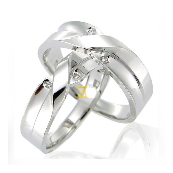 Model Cincin Kawin Cantik Palladium Pernikahan Tunangan Dengan Desain Yang Elegan Memiliki Ornamen Sangat