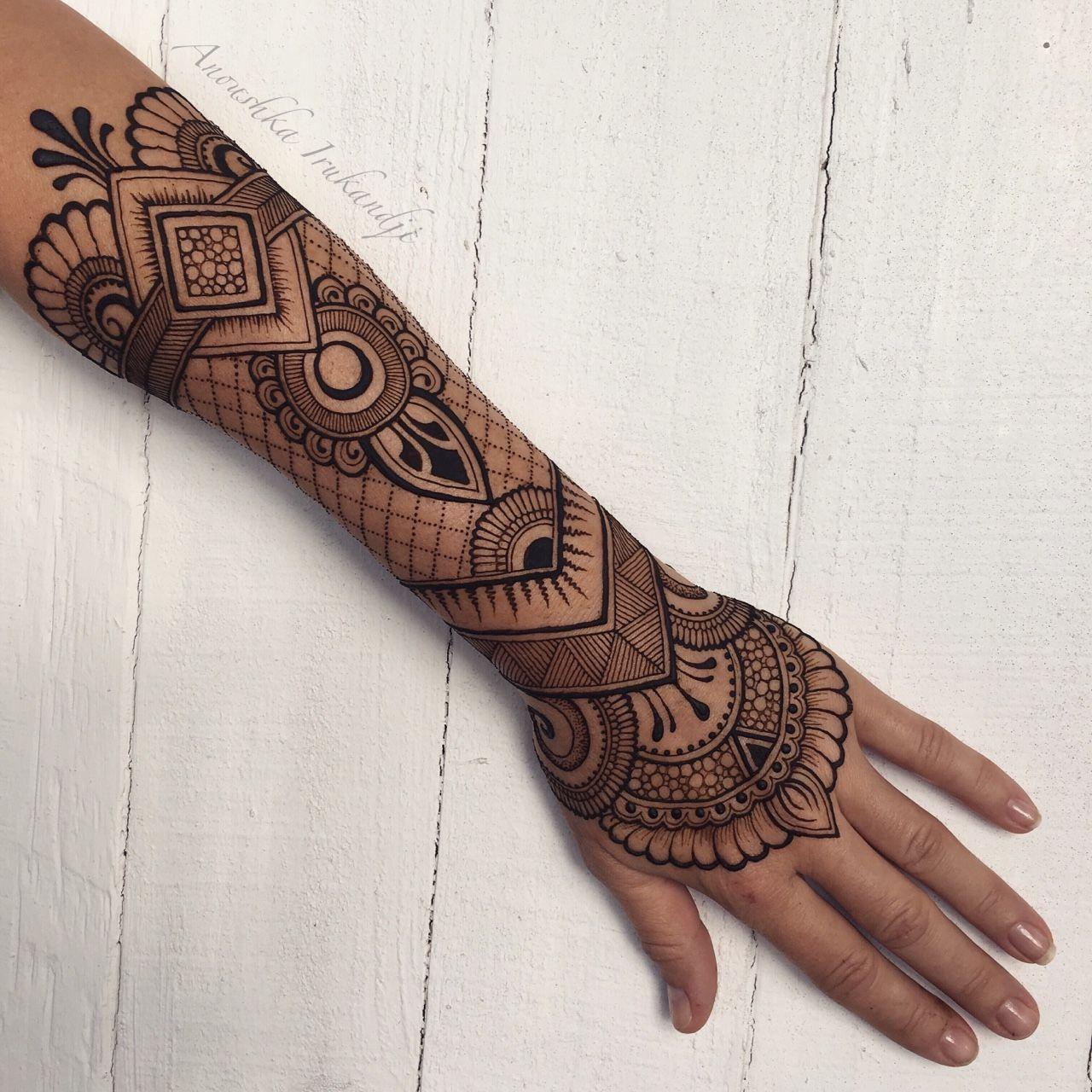 Mehndi Tattoo Sleeve: Henna, Henna Tattoo Designs, Henna Sleeve