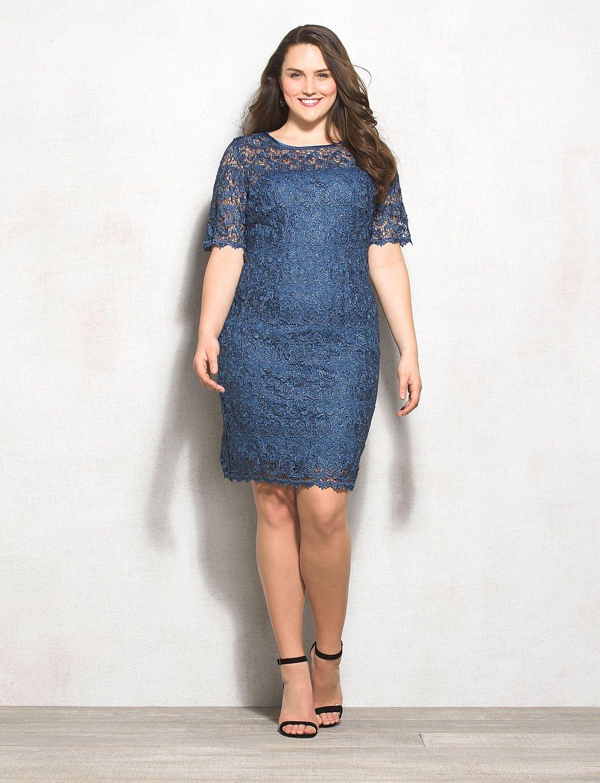 db rsvp plus size lace sheath dress | dressbarn | plus size style
