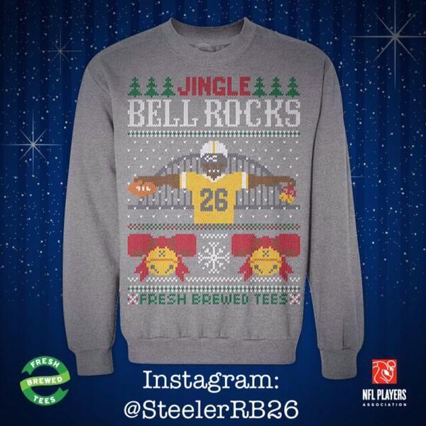 Steelers Le'Veon Bell @L_Bell26 #uglysweater Xmas '14