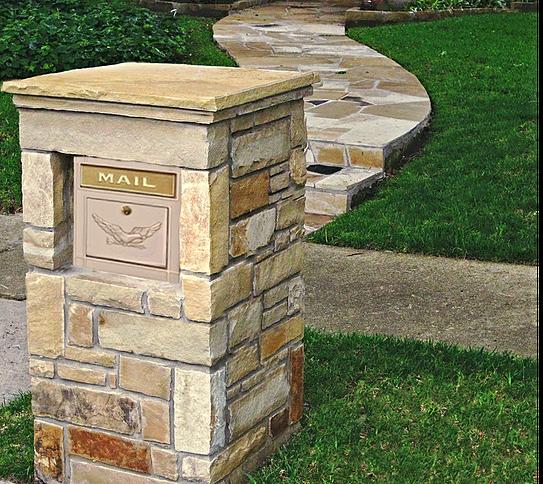 Stone Column Mailbox With Modern Locking Column Insert Large Capacity Security Mailbox Found At Planocolumnmailboxes C Mailbox Stone Mailbox Stone Columns