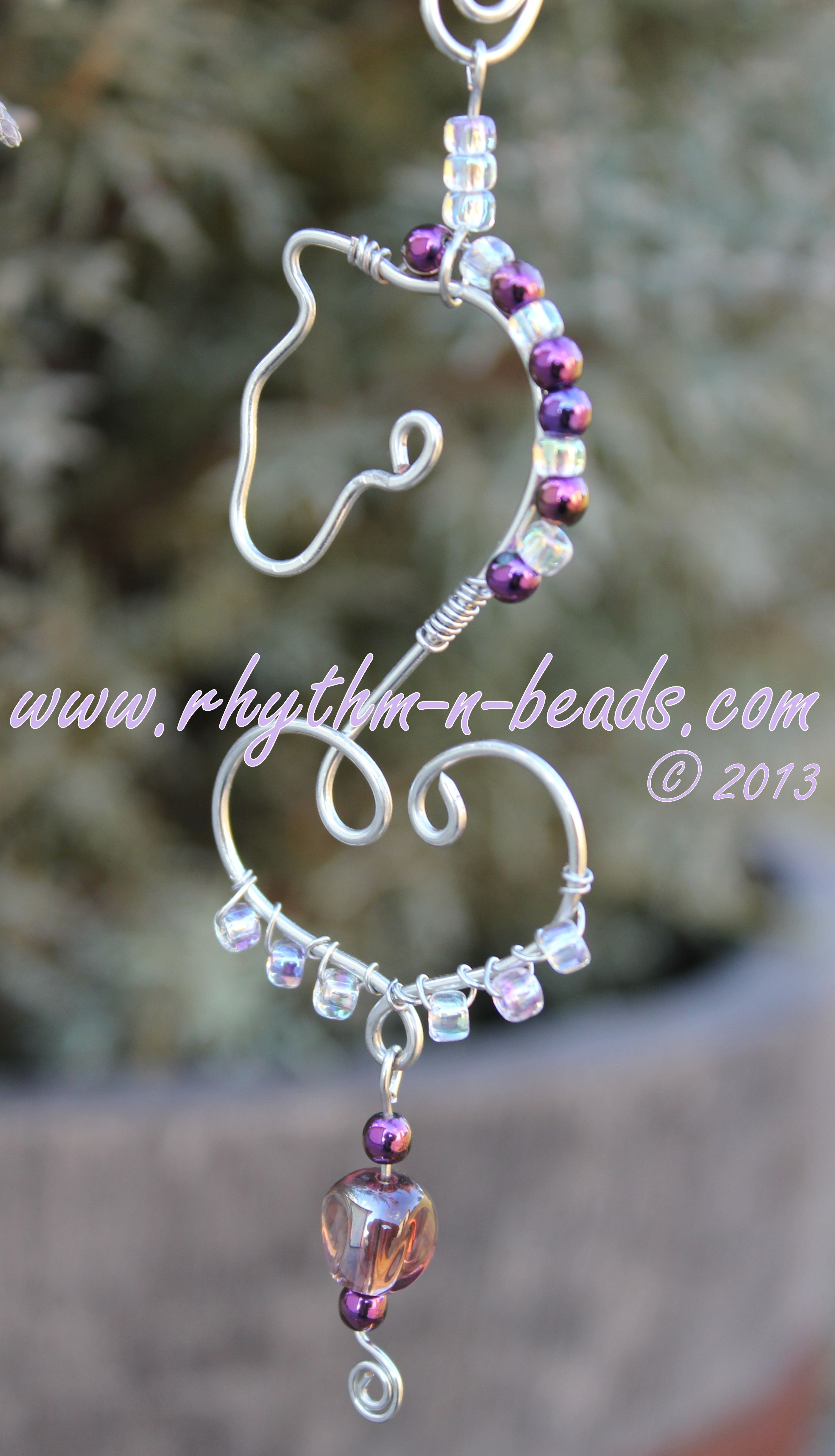 Wired Whinnies Sunjewels ~ by Rhythm-n-Beads TM are whimsical copper ...