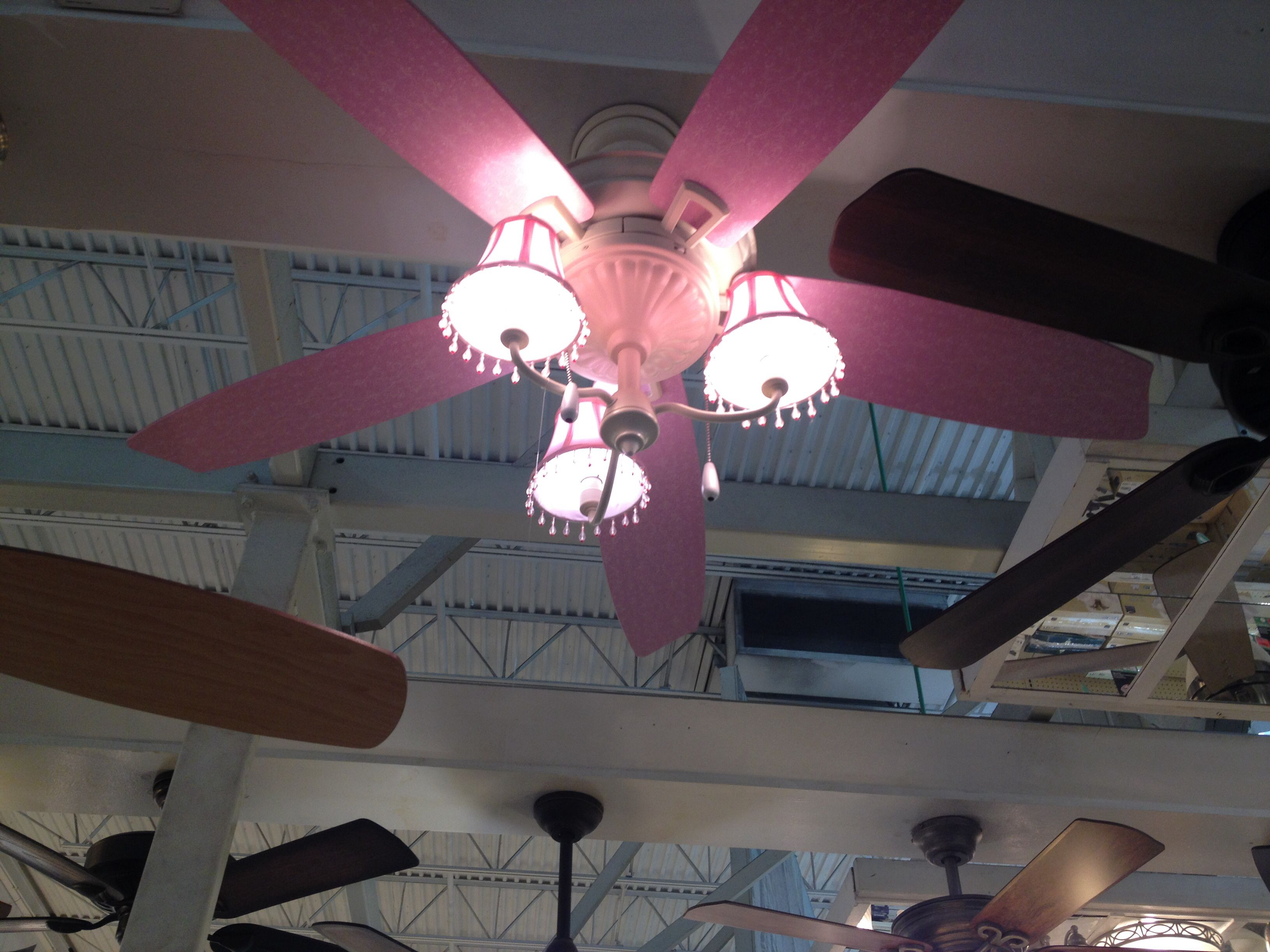 Pink ceiling fan for a girls room Kids rooms Pinterest