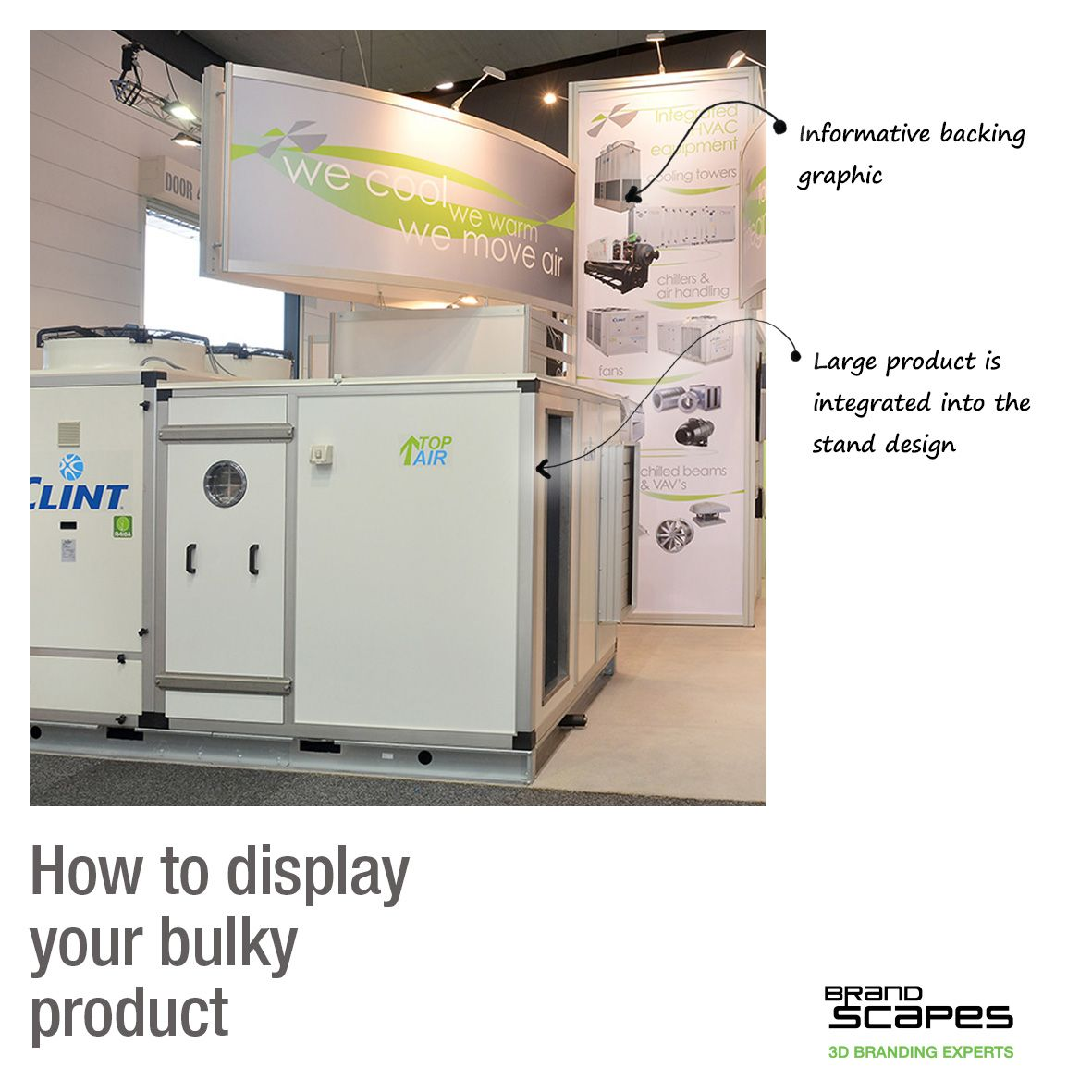 How to display your bulky or large products #eventtip #exhibition #tradeshow #display  Exhibitions and display Melbourne Sydney Brisbane Adelaide  #design #3dbranding #brandingexperts #experience #brandenvironment #marketing #spatialdesign #exhibitiondesign #custom #melbournemakers #customstand #standdesign #tradeshowstand #communication #graphicdesign #reclaimedwood #interior #hardwood #woodwork #retaildesign #retail