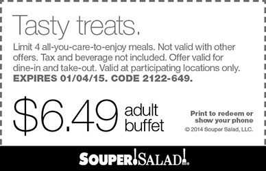 Restaurant Deals for Salad Bar, Sandwich, Buffet, Soup, Lunch, Dinner