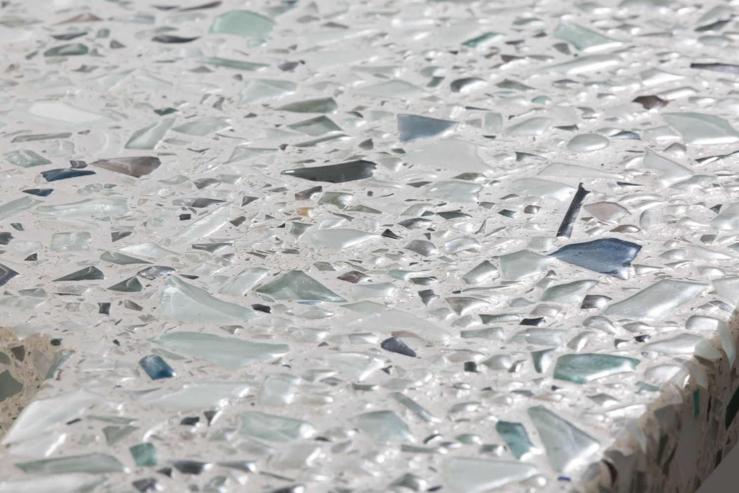 Introducing Sea Pearl The Crushed Glass Countertop With The Feel
