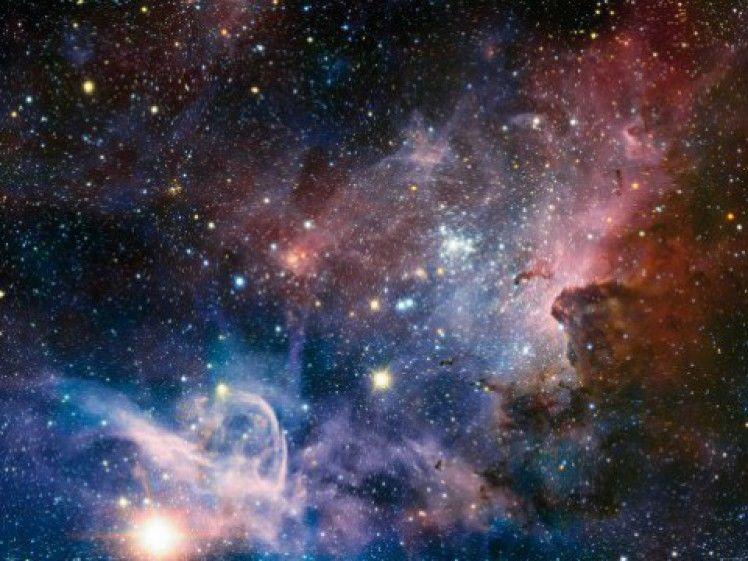 Der Weltraum Sternennebel Wolken Galaxie Poster Foto Tapete