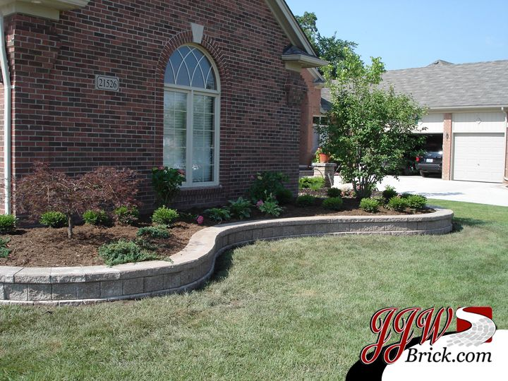 Retaining Wall Design with Landscaping for Front Yard I Do Not