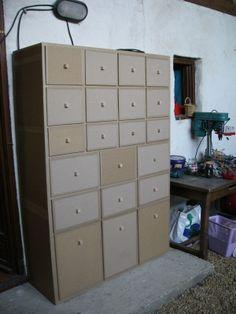 Meubles d'atelier en Carton - Meubles en carton - Angers