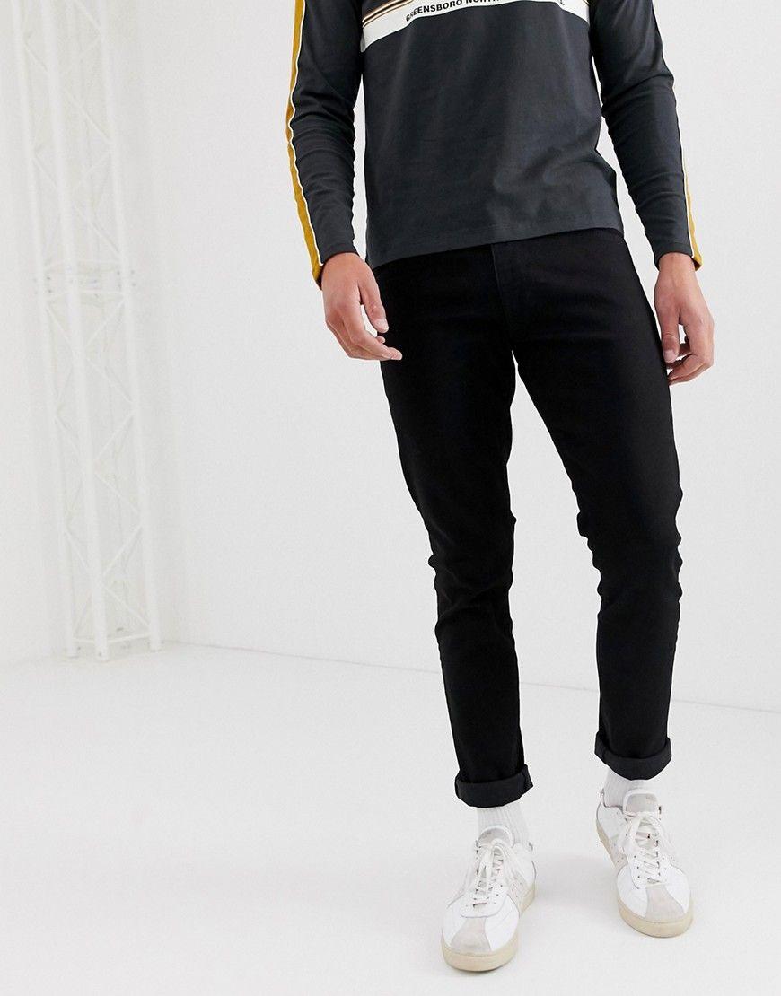 Men/'S Wrangler larston Slim Jeans Stretch-Blax