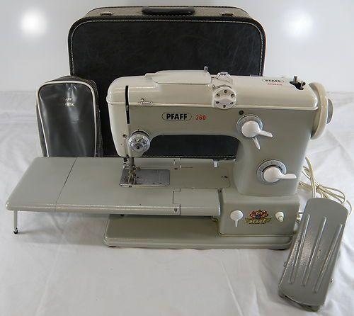 vintage pfaff 360 free arm sewing machine w case ebay sewing machine love pinterest arms. Black Bedroom Furniture Sets. Home Design Ideas
