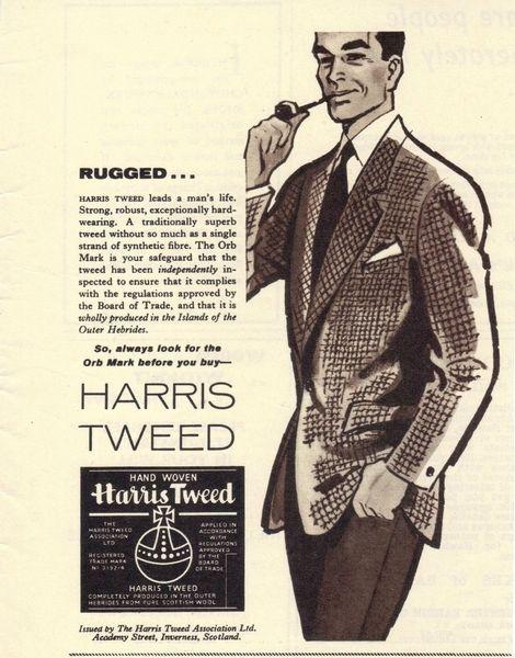 Vintage 1960 Harris Tweed Cloth Advert Vintage Advertising Posters Paper Bygones Visit Www Retrogentleman Com For More Tweeds
