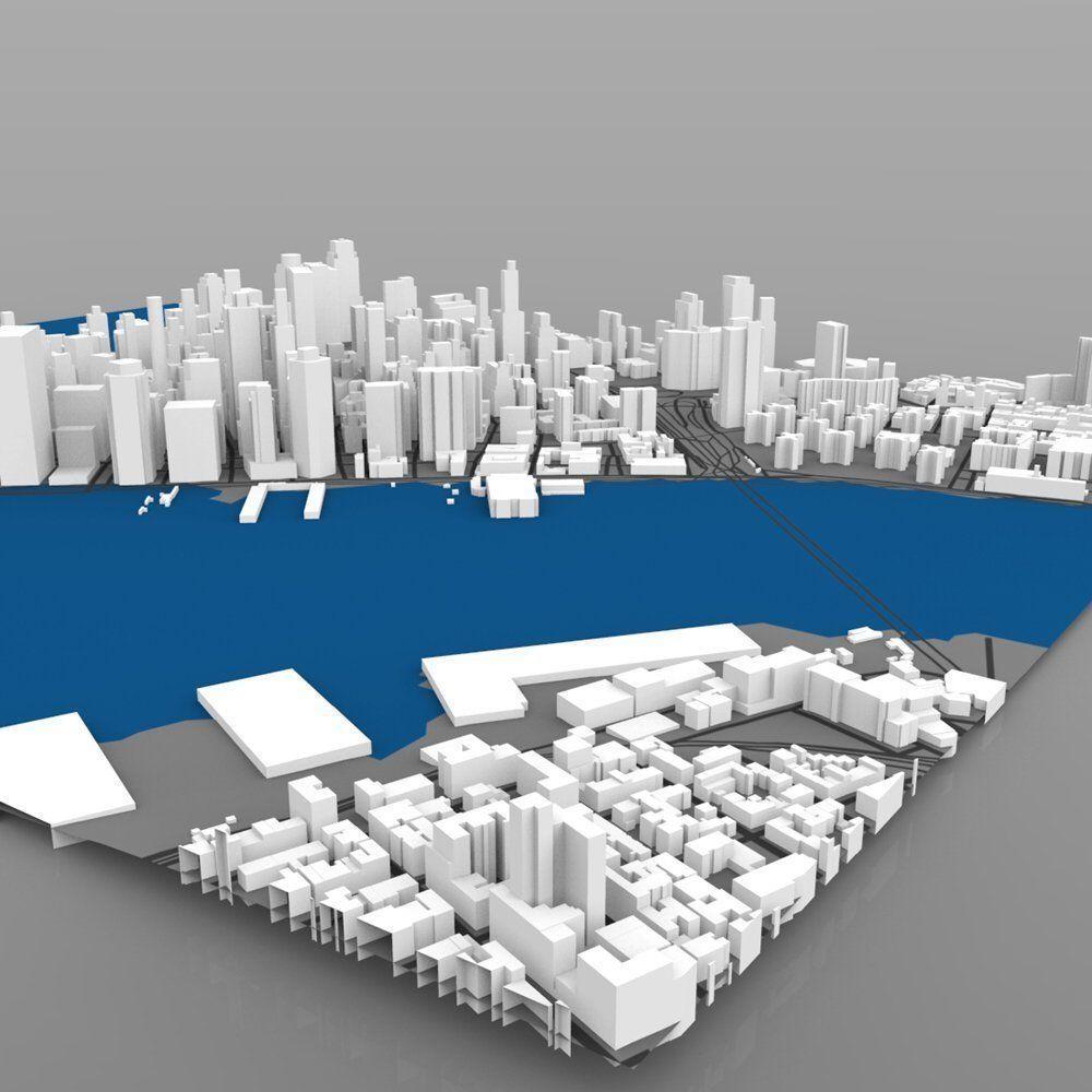 lower manhattan cityscape- 3ds and obj 3d model obj 3ds mtl pdf 16