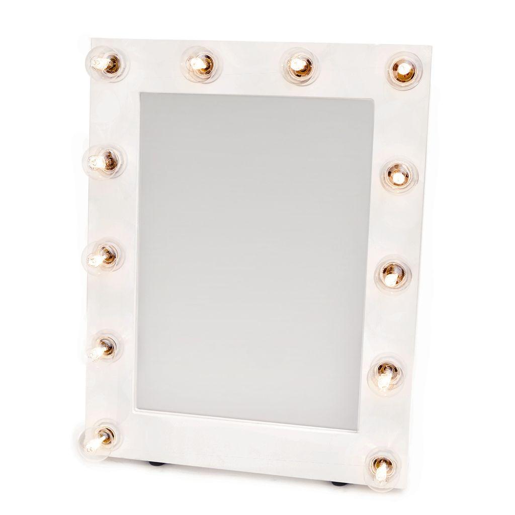 sminkspegel med ljus