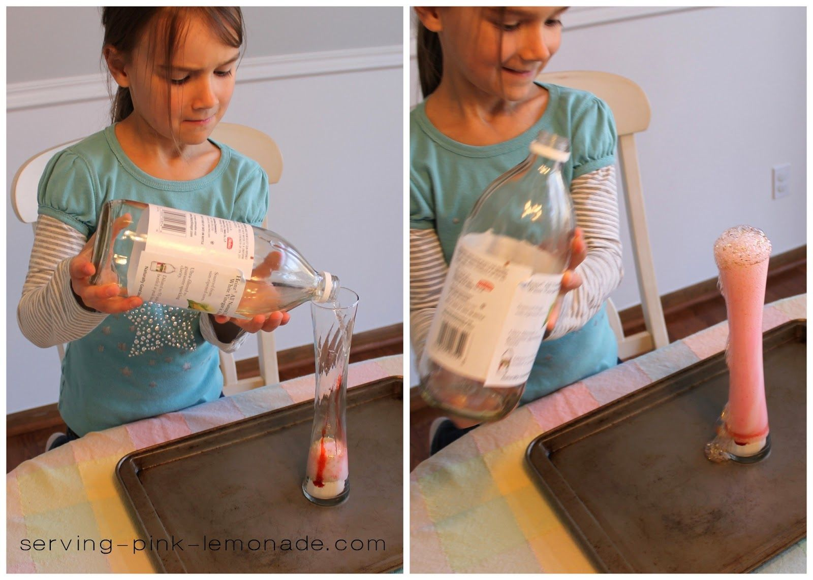 how to make a glitter volcano