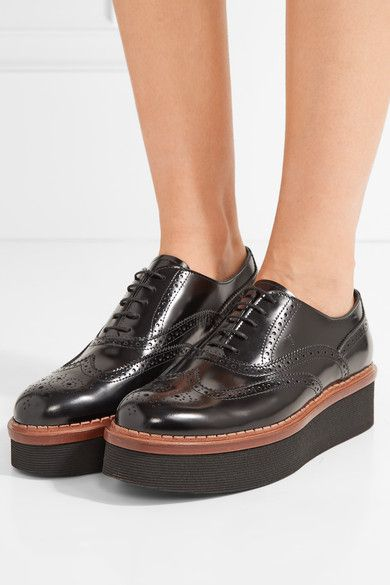 deec87c61d Tod's - Glossed-leather platform brogues | Flat Soled | Shoes ...