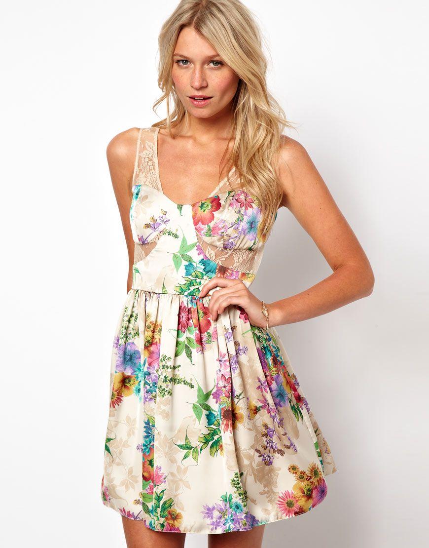 Floral Print Summer Dresses Photo Album - Reikian