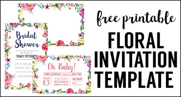 Flower Party Printables Free Printable