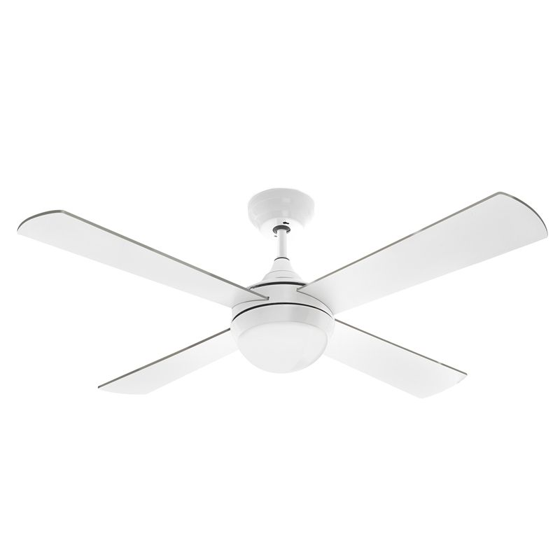 Arlec 120cm White Columbus Ceiling Fan With Led Light And Remote Control Ceiling Fan Led Lights Led Panel Light