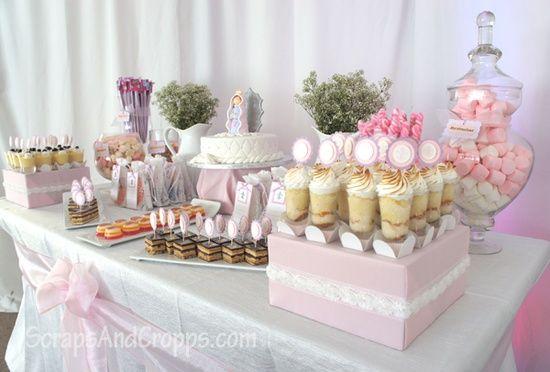 Comunione Compleanno Princess Pink Birthday Party Decorations Confettata Decorazioni Prima Comunione Festa Per La Prima Comunione Tavoli Da Dessert