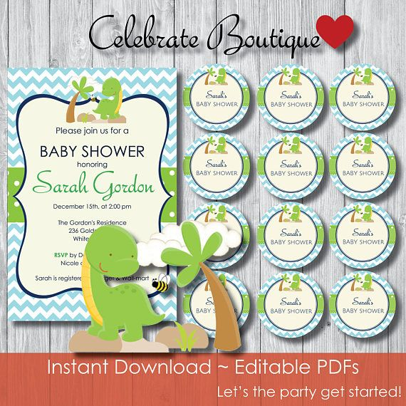 Dinosaur baby shower invitation instant download dinosaur baby dinosaur baby shower invitation instant download dinosaur baby shower editable invitation instant download editable invitation and tags instant dow filmwisefo