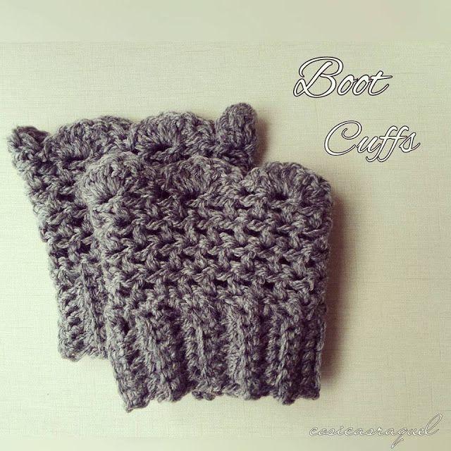 Calentadores para Botas a Crochet/ Crochet Boot Cuffs | Pinterest ...