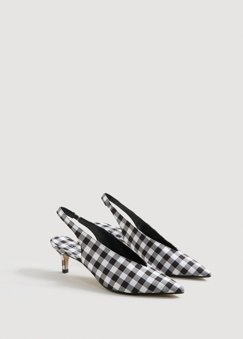 Slingback Mit Karomuster Damen Mango Deutschland Shoes Women Shoes Slingback