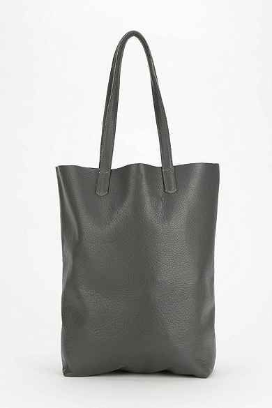 BAGGU Basic Leather Tote Bag