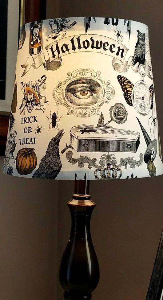 Halloween lamp shade Vintage Halloween halloween decor Etsy