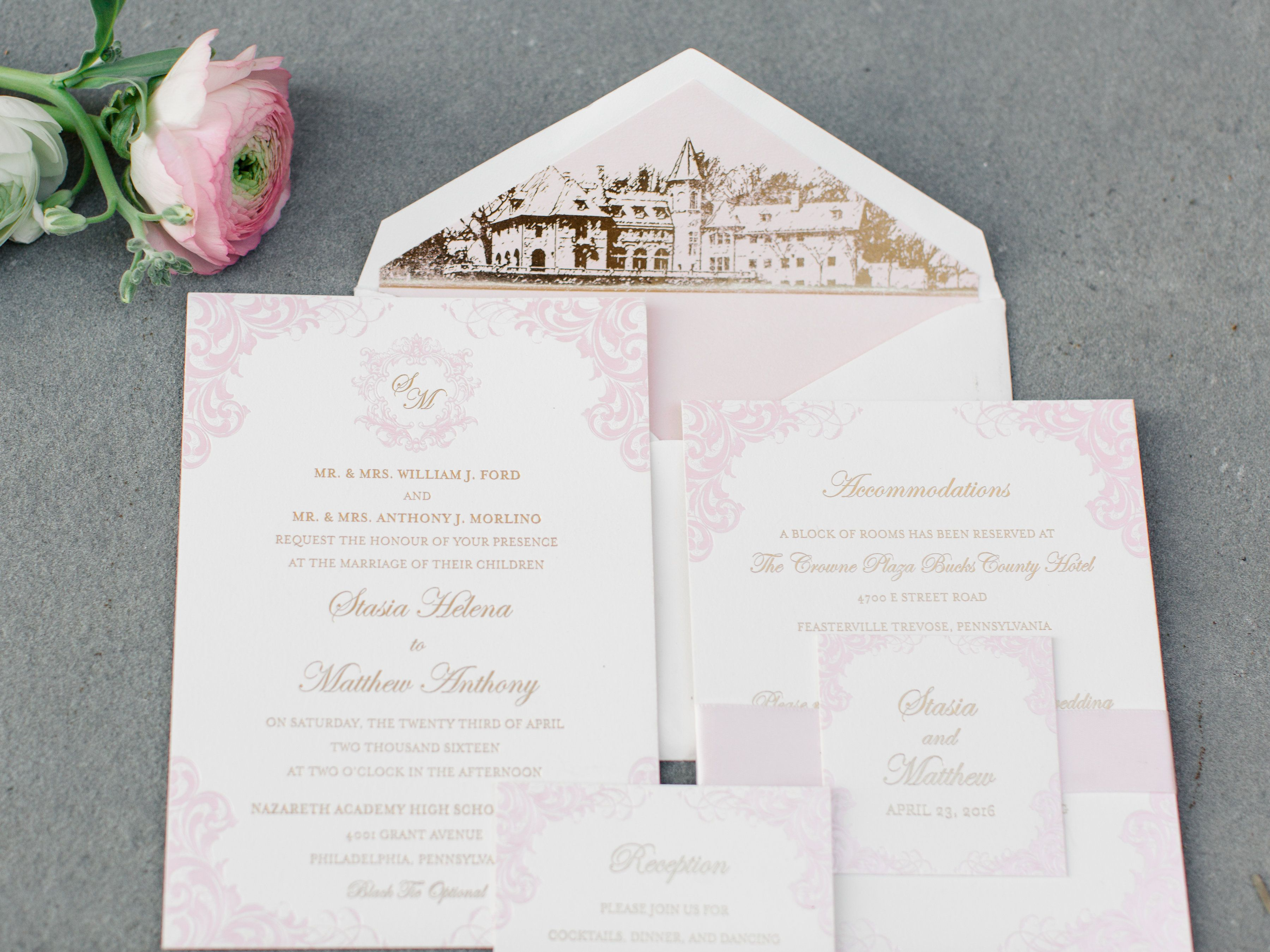 Philly S A List Best Wedding Invitations