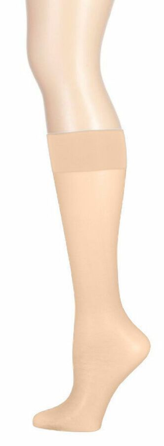 dc75339f4 12 Women Nylon Sheer Knee Highs Sock Stocking Wholesale Hosiery One Size  Color  Sheer Knee Highs