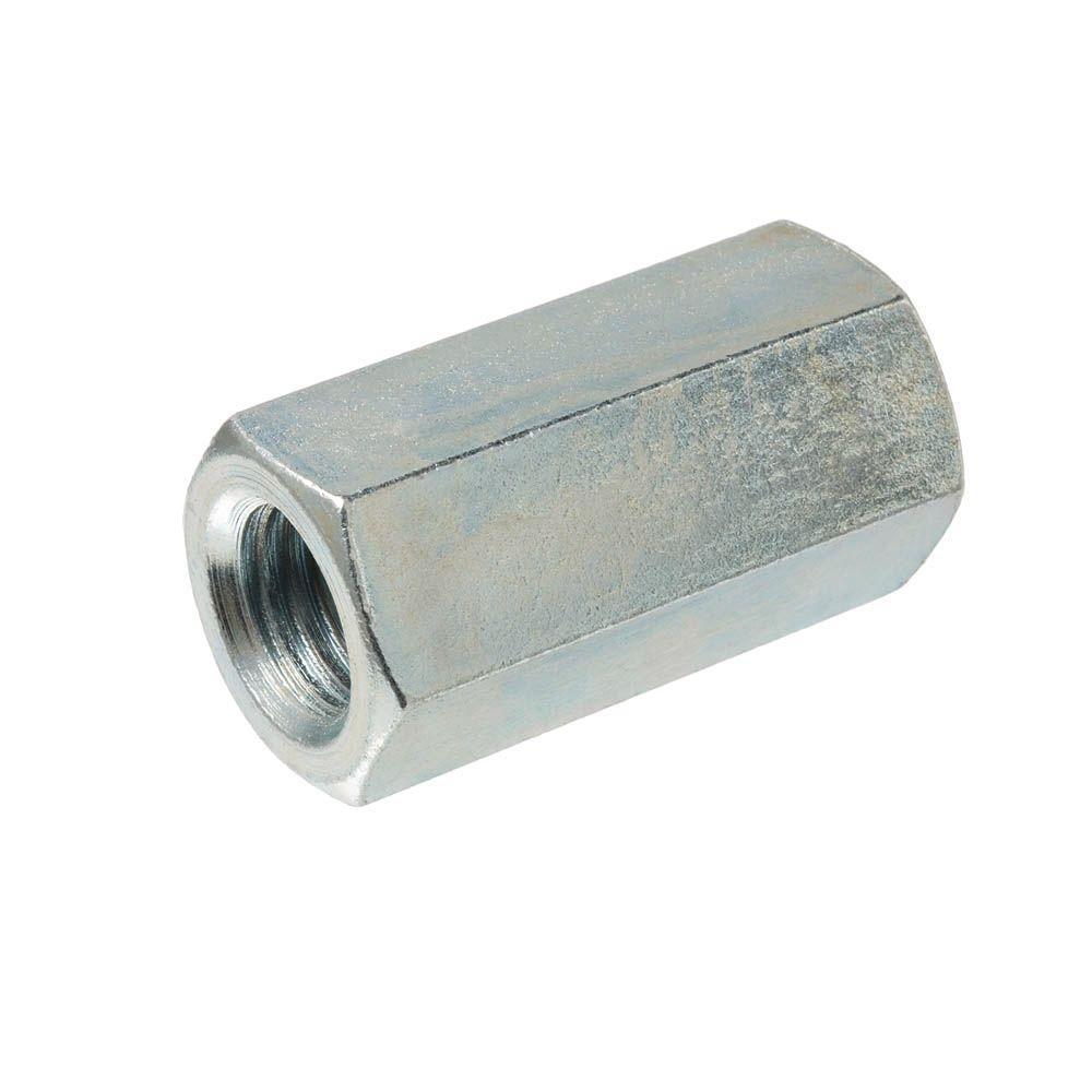 Everbilt 3/8 in -16 tpi x 1-1/8 in  Zinc-Plated Rod Coupling Nut (15