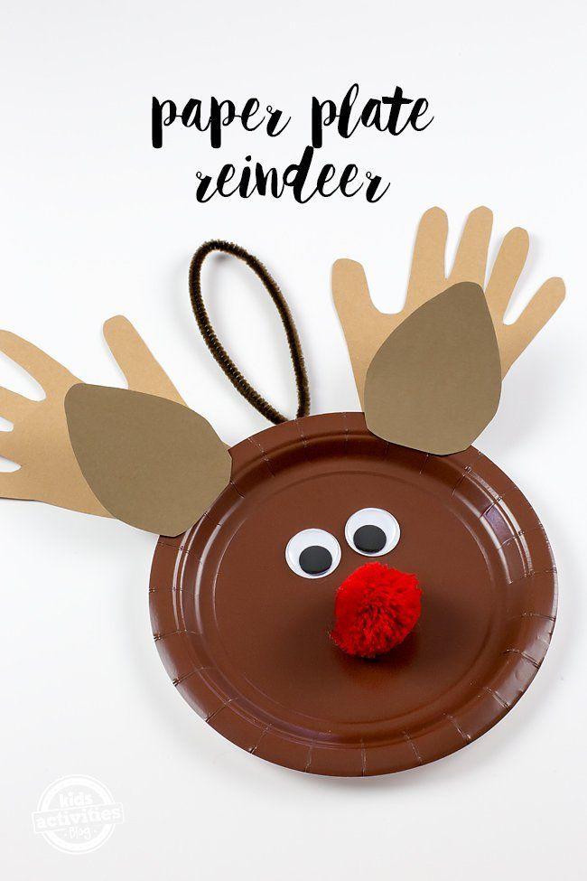 Paper Plate Reindeer Craft & PAPER PLATE REINDEER CRAFT | Reindeer craft Craft and Paper plate ...