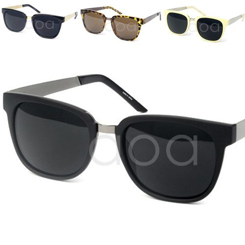 bd5409ee957 Black Beige Leopard Wayfarer Style Sunglasses Korean Fashion Women Men  Unisex