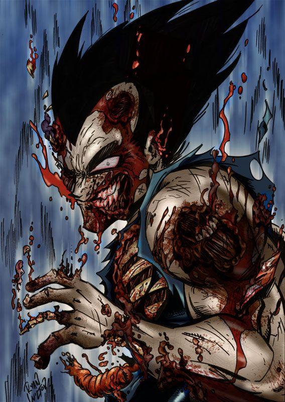 Zombie Vegeta By Channandeller Dragon Ball Z Zombie