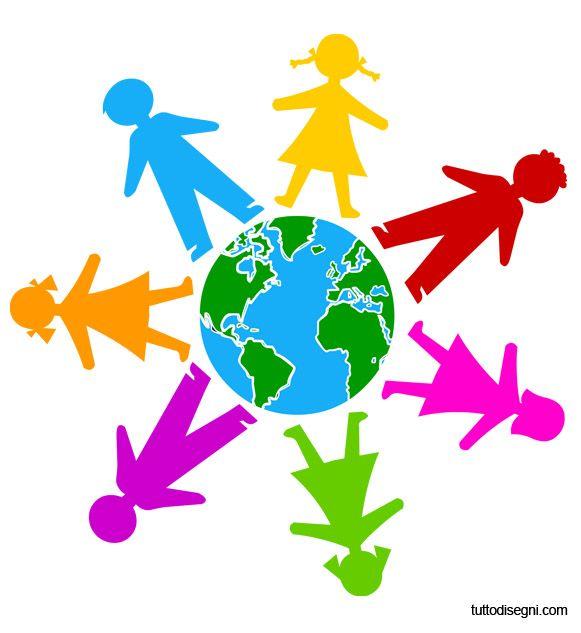 Disegni Da Colorare Di Bambini Intorno Al Mondo.Girotondo Dei Bambini Intorno Al Mondo Tutto Disegni