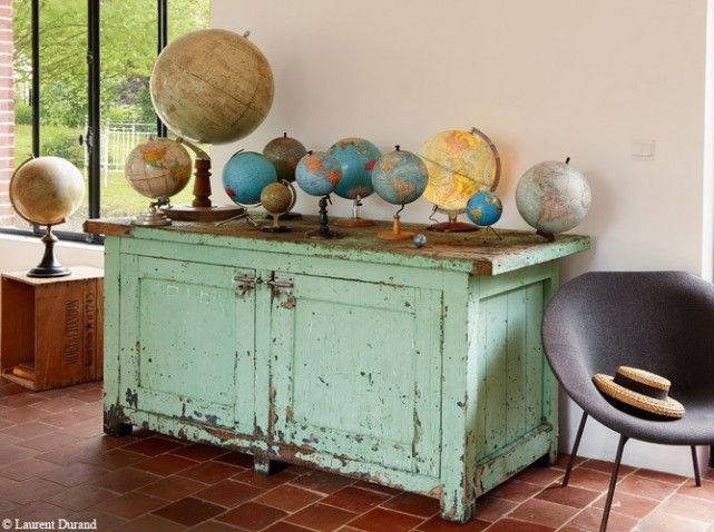 meubles et objets r cup 39 les coups de coeur d 39 art d coration globe shabby and shabby cottage. Black Bedroom Furniture Sets. Home Design Ideas