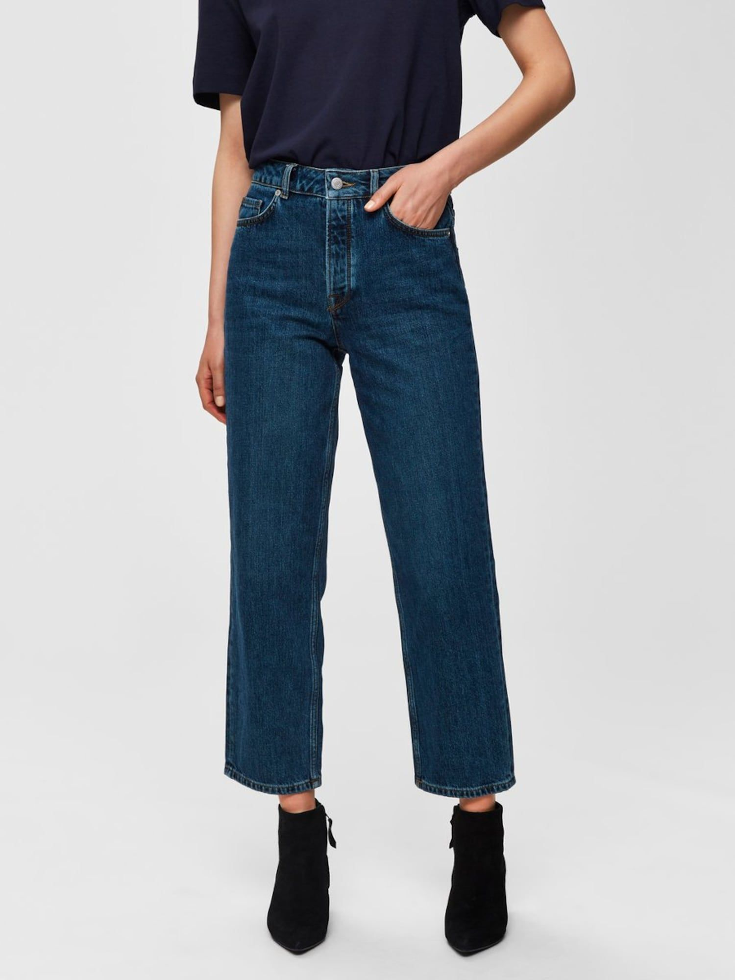 Photo of VALGTE FEMME-jeans i blå denim