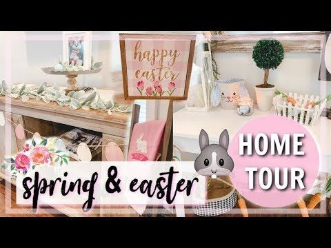 Farmhouse Easter Home Tour Minimalistic Spring Decor