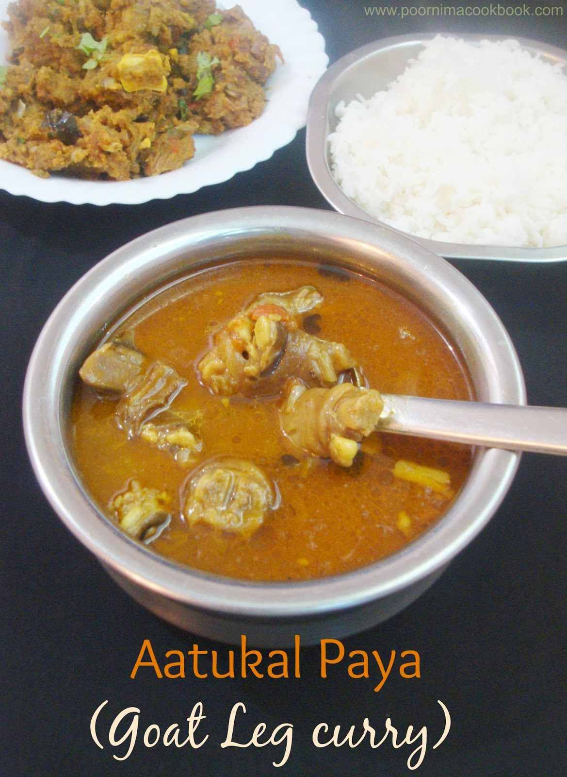 Aatukal Paya (Goat Leg curry) Amma's special (With