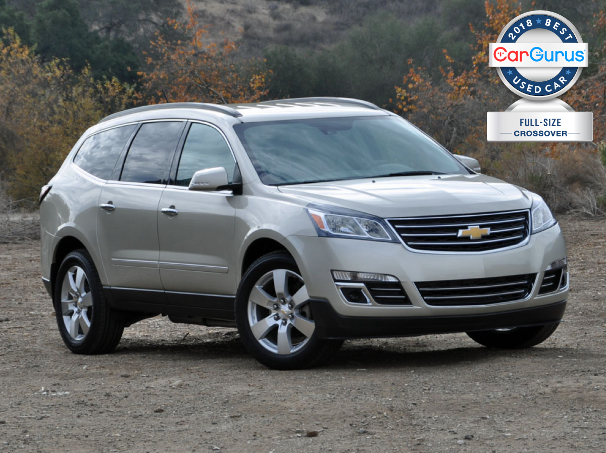 2018 CarGurus Used Car Awards for Best Full-Size Crossover goes to the Chevy  Traverse.