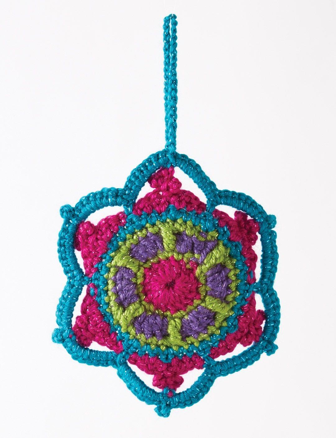 Yarnspirations.com - Caron Jewelled Snowflake - Patterns ...