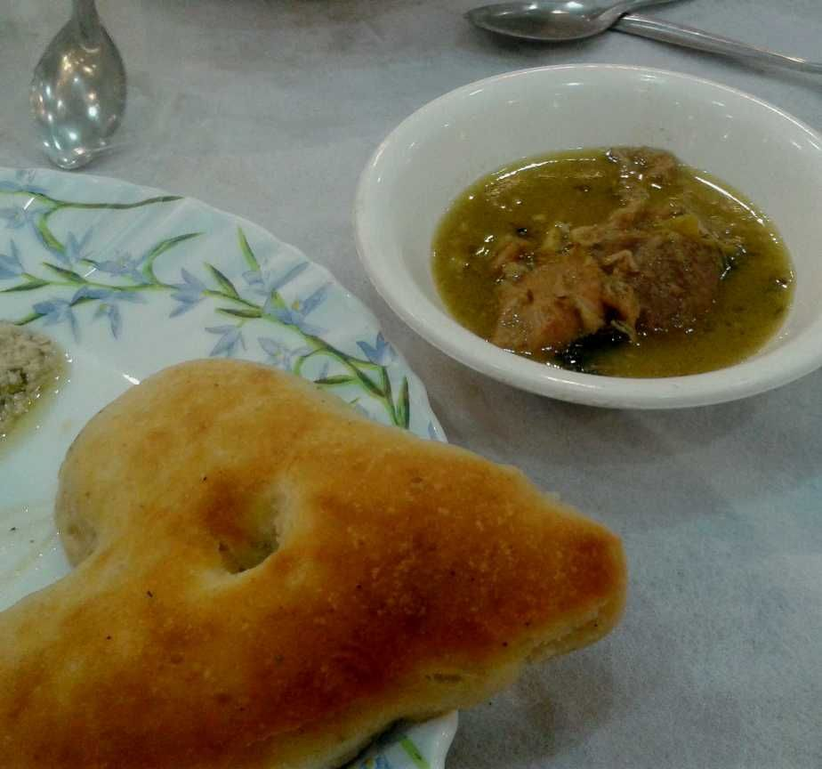Heart shaped indian food