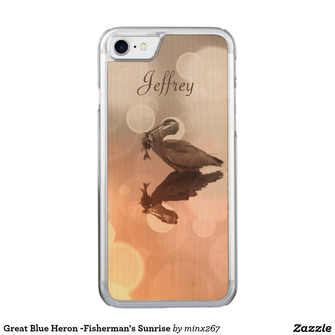 Great Blue Heron -Fisherman's Sunrise Carved iPhone 7 Case