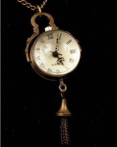 Steampunk Glass Orb Globe Pocket Watch Vintage Quartz Gothic Steel