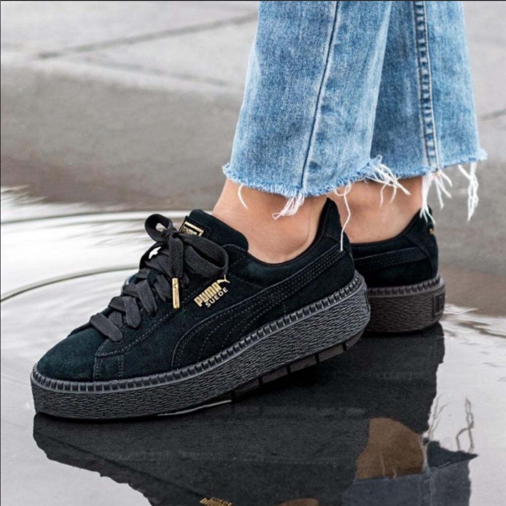 Puma Suede Trace Platform Sneakers 9 Puma Suede Puma Suede Outfit All Black Puma Suede